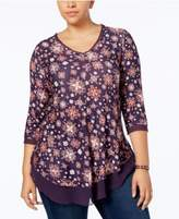 Style&Co. Style & Co Plus Size Printed Layered-Look Top, Created for Macy's