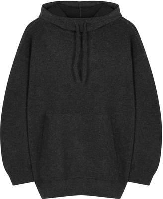 Vince Dark Grey Hooded Cashmere Jumper