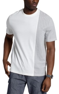 Sean John Men's Colorblocked Pinstripe T-Shirt