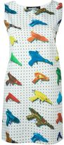 Jeremy Scott watergun print fitted dress