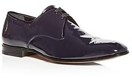 Salvatore Ferragamo Men's Broadway Patent Leather Plain-Toe Oxfords