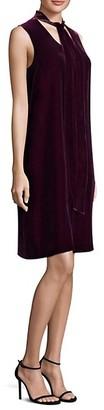 Lafayette 148 New York Ronan Velvet Tie Shift Dress