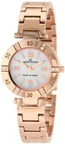 Anne Klein Women's 109466MPRG Swarovski Crystal Mother-of-Pearl Dial and Rosegold-Tone Bracelet Watch
