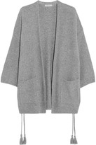 Madewell Tasseled Crochet-knit Cotton-blend Cardigan - Gray