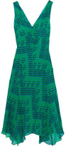 Diane von Furstenberg Dita Printed Silk-georgette Dress - Forest green