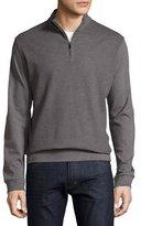 BOSS Textured Quarter-Zip Pullover, Gray