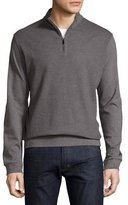 HUGO BOSS Textured Quarter-Zip Pullover, Gray