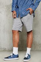 Forever 21 FOREVER 21+ Contrast-Trim Marled Shorts