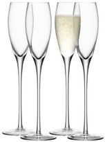 LSA International 200 ml Wine Champagne Flute, Clear (Pack of 4)