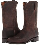 Lucchese M1018.C2 (Chocolate Madras Goat Roper) Cowboy Boots