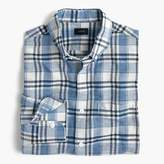 J.Crew Slim end-on-end cotton-linen shirt in plaid