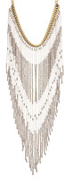 Stephan & Co Seedbead and Bugle Bead Fringe Necklace