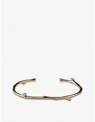 Shaun Leane Cherry Blossom yellow-gold vermeil and diamond bangle