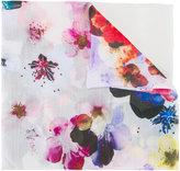 Elie Saab floral print scarf - women - Silk/Wool - One Size