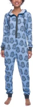Munki Munki Darth Vader Hooded Fleece Union Suit Pajamas