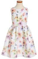 Frais Girl's Tropical Floral Dress