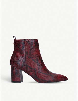 Kurt Geiger Suki snakeskin faux-leather ankle boots