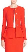 St. John Women's Textural Twill Peplum Jacket
