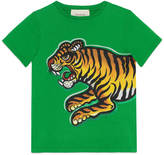 Gucci Children's tiger print t-shirt