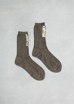 Rachel Comey Gold Black Lang Beaded Socks