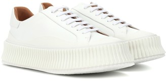 Jil Sander Leather platform sneakers