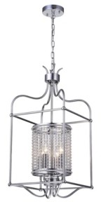 """Home Accessories Cariana 15"""" 4-Light Indoor Pendant Lamp with Light Kit"""