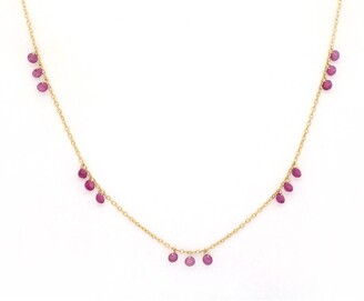 Bony Levy El Mar 18K Yellow Gold Triple Ruby Floating Necklace