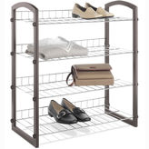 Whitmor Faux Leather Wire Closet Shelves
