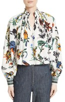 Tibi Women's Goth Floral Silk Top