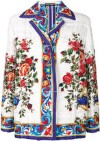 Dolce & Gabbana Majolica print quilted jacket