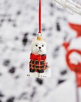 Joy To The World Collectibles Westie in Tartan Plaid Coat Ornament