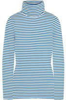 J.Crew Tissue Striped Cotton-jersey Turtleneck Top
