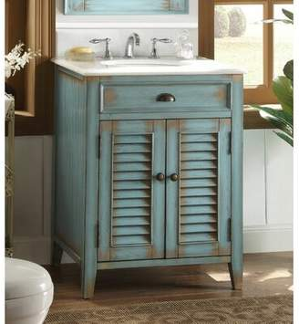 "Lark Manor Manon 26"" Single Bathroom Vanity Set Lark Manor Color: Blue/White"