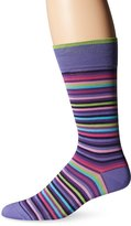 Bugatchi Men's Stripe Time Mens Fancy Sock
