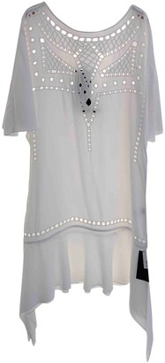 Vix Paula Hermanny White Cotton Dress for Women