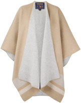 Woolrich stripe panel poncho - women - Cotton/Polyamide/Wool - One Size