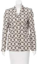Schumacher Printed Notch-Lapel Blazer w/ Tags