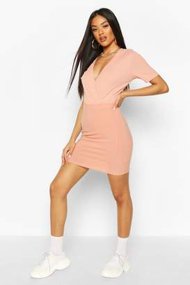 boohoo Basic Ribbed Mini Skirt
