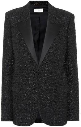 Saint Laurent Metallic lamA blazer
