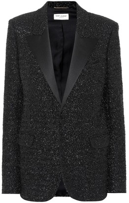 Saint Laurent Metallic lame blazer