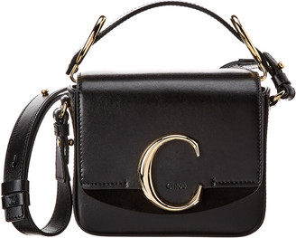 Chloé C Mini Leather & Suede Shoulder Bag