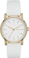 DKNY Soho White Leather Watch