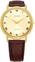 Jowissa Women's J4.032.L Opera (Mineral) Gold Tone Stainless-Steel Sunray Dial Brown Lizard Leather Watch