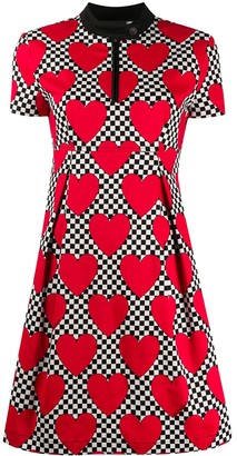 Love Moschino heart-print A-line dress