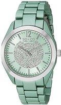 SO&CO New York Women's 5096A.3 SoHo Quartz Crystal Dial Oversized Green Link Bracelet Watch