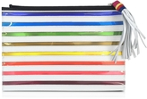 Mary Katrantzou Rainbow White Canvas Pouch