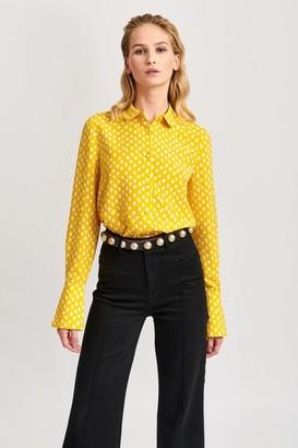 Essentiel Antwerp Van Yellow Polka Dot Shirt - 10