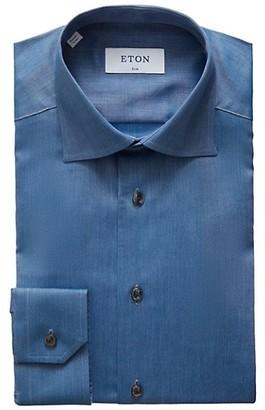 Eton Slim-Fit Chambray Dress Shirt