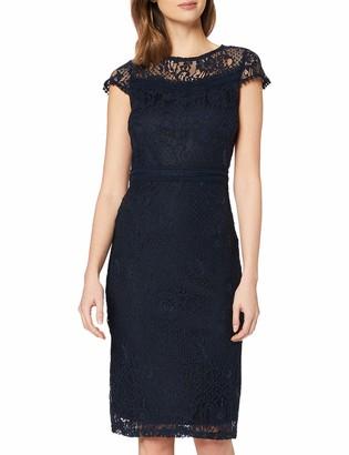 Dorothy Perkins Women's Navy Lace Trim Pencil Dress 20
