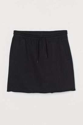 H&M Short Sweatshirt Skirt - Black